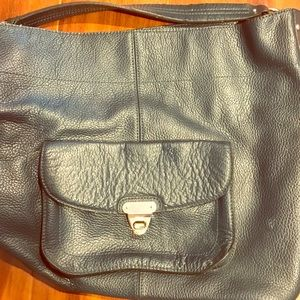 Leather classic hobo bag